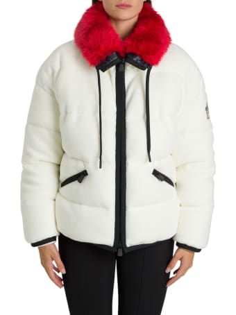 Moncler Grenoble Recycled Fleece Jacket With Contrasting Cashmere Hood