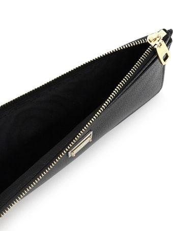 Dolce & Gabbana Card Holder Pouch In Hammered Leather