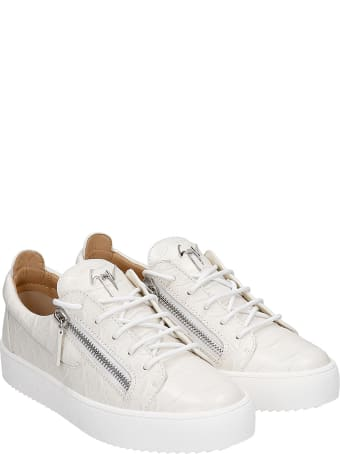 Giuseppe Zanotti Frankie Sneakers In White Leather