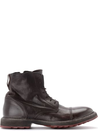 Moma Cusna Ankle Boot In Ebony Leather