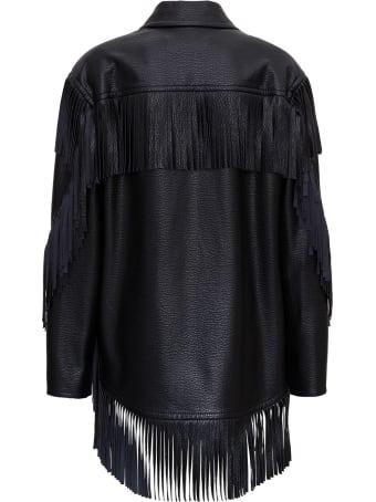 Philosophy di Lorenzo Serafini Leatheret Jacket With Fringes