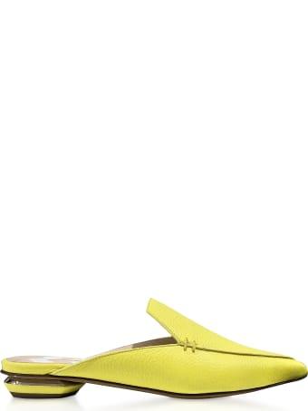 Nicholas Kirkwood Fluo Yellow 18mm Beya Flat Mules