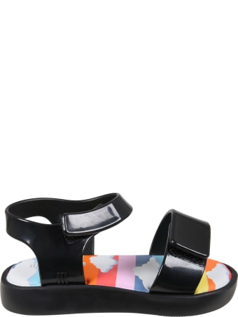 Melissa Black Sandals For Kids With Clouds