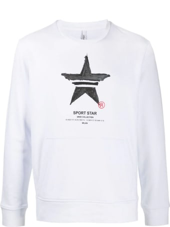 Neil Barrett White Cotton-blend Sweatshirt