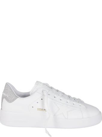 Golden Goose White Leather Pure-star Sneakers
