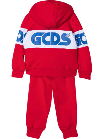 GCDS Mini Red Sports Suit
