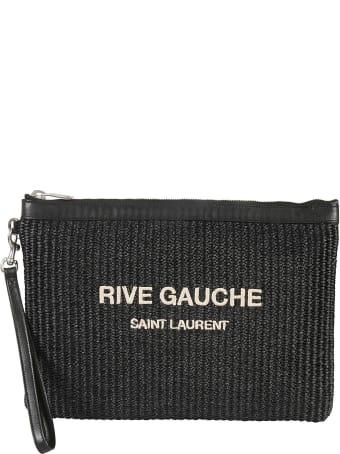 Saint Laurent Removable Tassels Pouch