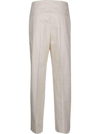 Jil Sander Navy Cropped Stretch Trousers
