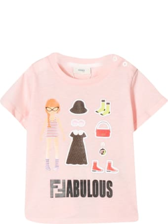 Fendi Kids Fabulous Print T-shirt