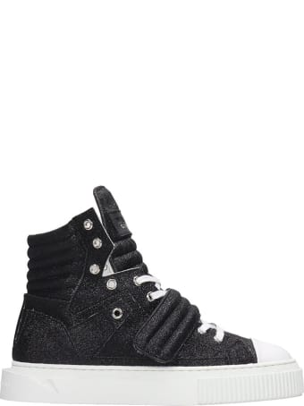 Gienchi Hypnos Sneakers In Black Glitter