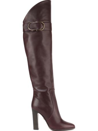 Dolce & Gabbana Slip On High Leather Boot