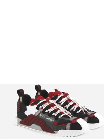 Dolce & Gabbana Ns1 Sneaker In Suede And Leather