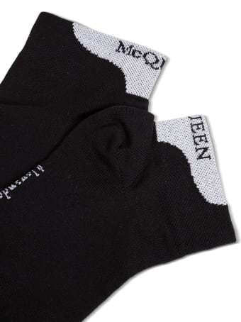 Alexander McQueen Ankle Cotton Socks With Logo