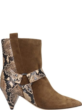The Seller Ankle Boots In Beige Suede