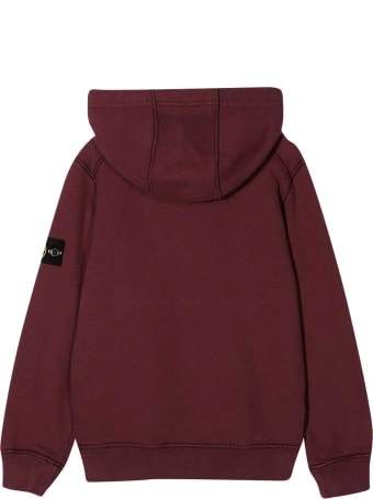 Stone Island Junior Red Sweatshirt
