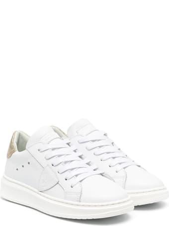 Philippe Model Temple Sneakers In Leather With Logo
