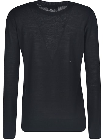 Emporio Armani Ribbed Plain Sweater