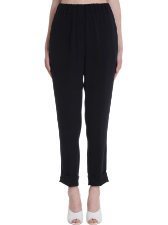 Brag-Wette Pants In Black Tech/synthetic