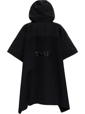 Moncler Hooded Cape In Black Modal