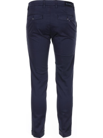 Re-HasH Blue Stretch Satin Trousers