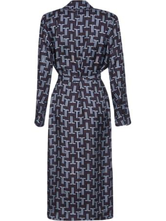 Lanvin Tie-waist Pattern Printed Dress
