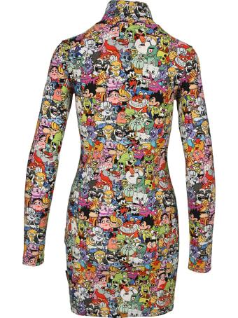 VETEMENTS Cartoon-print Turtleneck Mini Dress