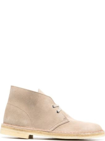 Clarks Sand Leather Desert Boots
