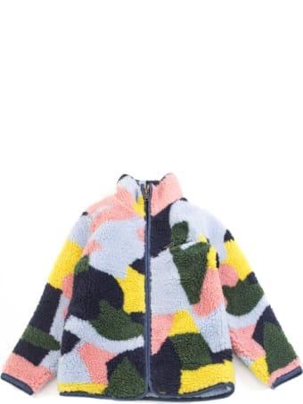 Stella McCartney Multicolour Colour Block Faux Fur Jacket