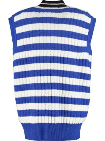 Plan C Striped Knit Vest