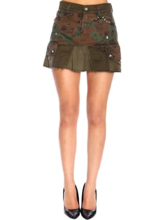 Diesel Skirt Diesel O-loved Kargo Skirt In Camouflage Fabric