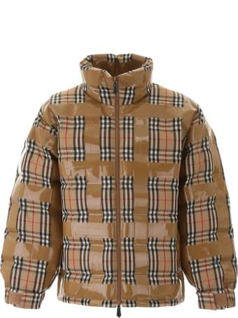 Burberry Tape Vintage Check Puffer Jacket