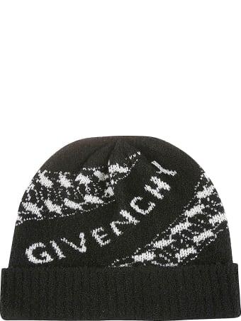 Givenchy Ribbed Logo Beanie