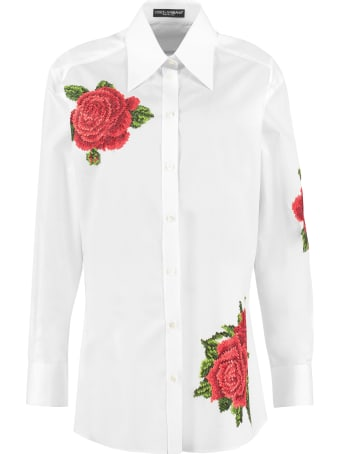 Dolce & Gabbana Embroidered Poplin Shirt