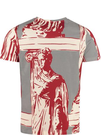 Salvatore Ferragamo Printed Stretch Cotton T-shirt