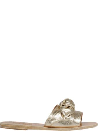 Ancient Greek Sandals Bow Sliders