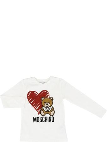 Moschino T-shirt Moschino Bear Heart Maxi