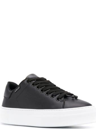 Neil Barrett Black Leather Sneakers