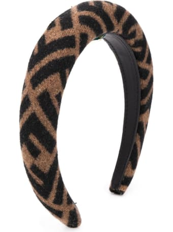 Fendi Ff Wool And Cashmere Headband