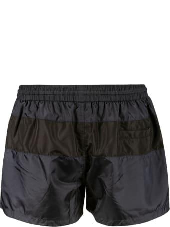 Thom Browne Drawstring Waist Logo Swim Shorts