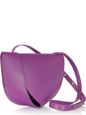 Giaquinto Candy Saddle Orchid-egret Shoulder Bag