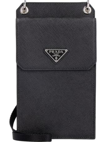 Prada Saffiano Leather Mobile Phone Pouch