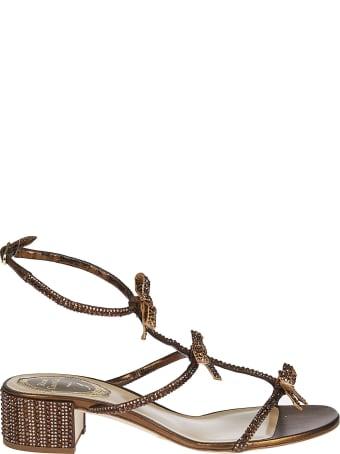 René Caovilla Bow Detail Sandals