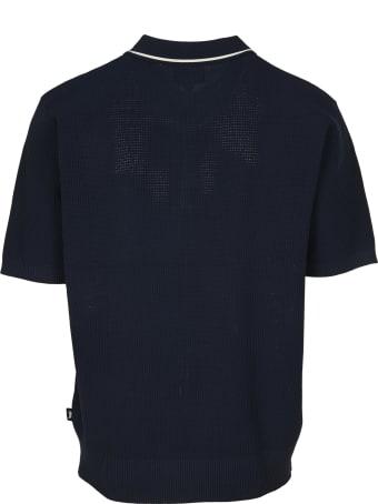Stussy Striped Knit Polo Shirt