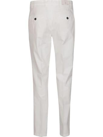 Eleventy White Cotton Blend Pants
