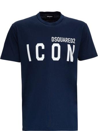 Dsquared2 Blue Cotton Icon T-shirt