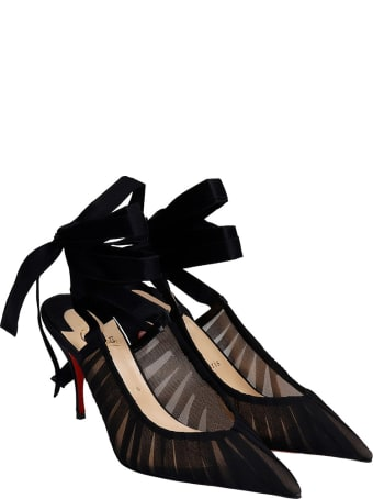 Christian Louboutin Goya Ruban Pumps In Black Satin