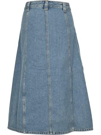 Ganni Midi Denim Skirt