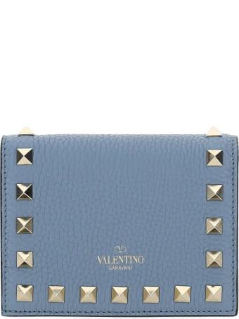 Valentino Garavani Leather Flap Stud Wallett Valentino Garavani
