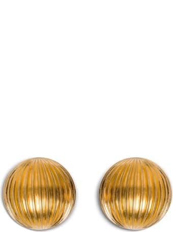 Saint Laurent Bull Gold Color Earrings