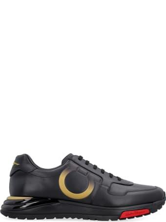 Salvatore Ferragamo Gancini Leather Sneakers